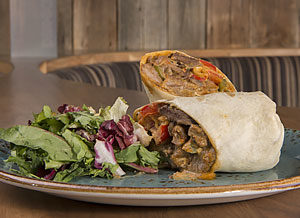 Barbary Coast beef wrap